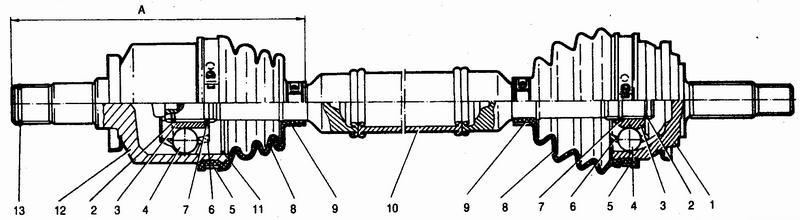 привод переднего колеса ваз 2110-ваз 2111-ваз 2112