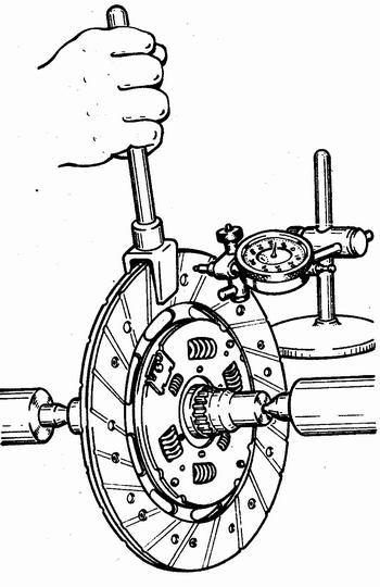 проверка биения ведомого диска сцепления ваз 2110 - ваз 2111 - ваз 2112