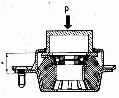 проверка упругой деформации (осадки) верхней опоры передней подвески ваз 2110-ваз 2111-ваз 2112
