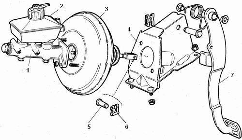 крепления вакуумного усилителя ваз 2110-ваз 2111-ваз 2112