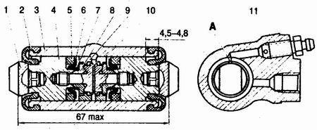 колесный цилиндр ваз 2110-ваз 2111-ваз 2112