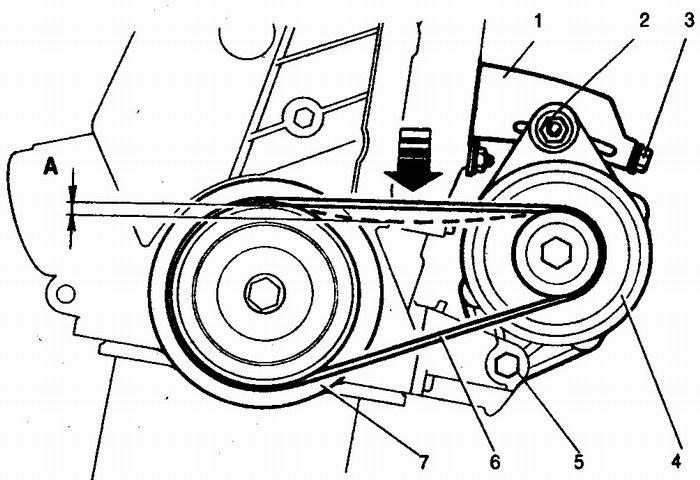 проверка натяжения ремня привода генератора ваз 2110-ваз 2111-ваз 2112