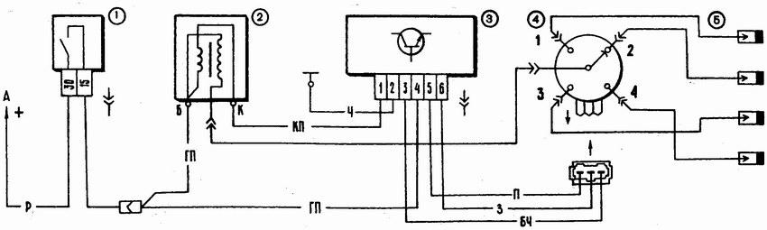 Схема бесконтактной системы