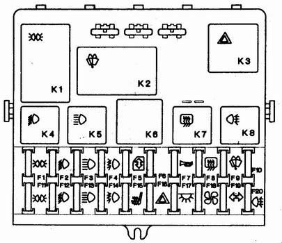 Трм 12 схема электрическая принципиальная.  Ваз 21124 монтажный блок предохранители схема.
