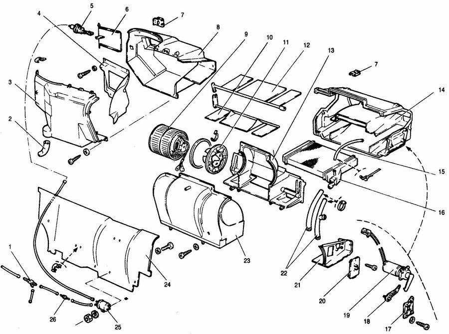 ...воздухозаборника отопителя; 4 - водоотражательный щиток воздухозаборника; 5 - клапан управления заслонкой...