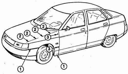 cнятие переднего крыла c автомобиля ваз 2110