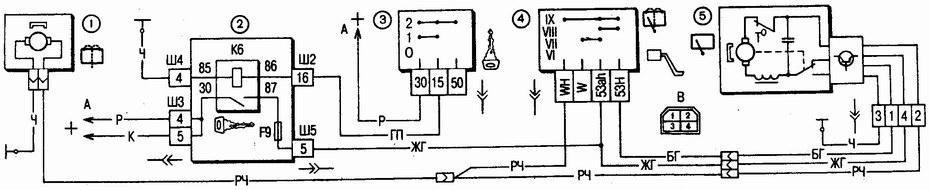 схема включения очистителей и омывателя заднего стекла ваз 2111 - ваз 2112