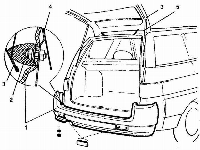 снятие заднего бампера с автомобилей ваз 2111 - ваз 2112