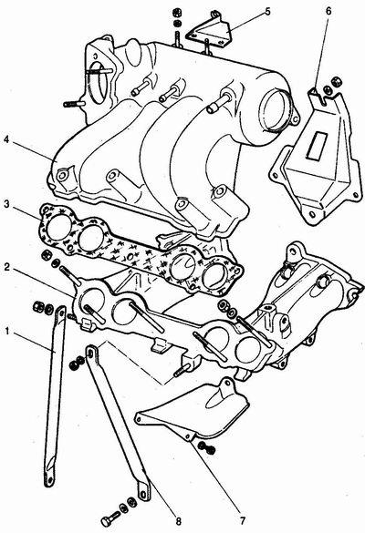 снятие ресивера и впускной трубы с двигателя ваз 2111