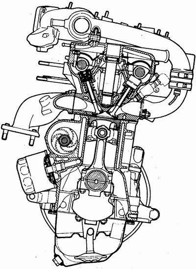 поперечный разрез двигателя ваз 2112