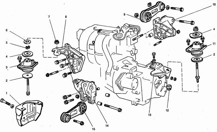 подвеска силового агрегата с двигателем ваз 2112