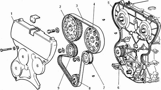 снятие привода распределительного вала с двигателя ваз 2112
