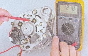 проверка диодов генератора на «пробой»