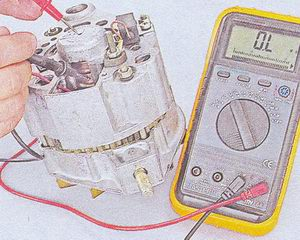 проверка замыкания обмотки ротора на корпус генератора