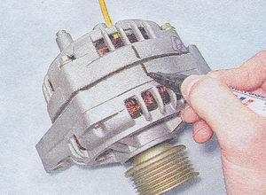 передняя и задняя крышки генератора