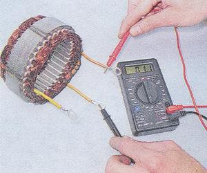 проверка обмотки статора генератора