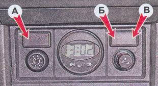 дополнительная консоль панели приборов автомобиля ваз 2107
