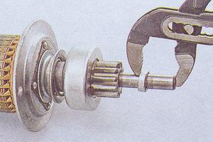 якорь статера ваз 2107 - ограничительное кольцо хода шестерни