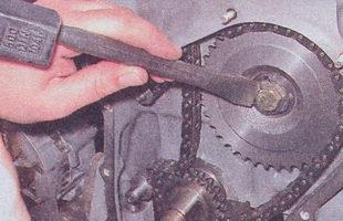 стопорная шайба болта крепления звездочки привода валика вспомогательных агрегатов