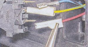 клеммы проводов клавишного выключателя ваз 2107