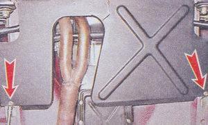 саморезы заднего крепления дополнительного грязезащитного щитка