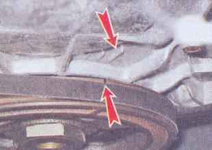 метка на шкиве карбюраторный двигатель ваз 2107