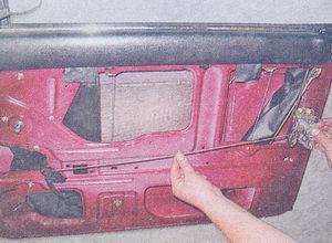 замок двери ваз 2107 с тягой и внутренней ручкой