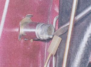 наконечник тяги личинки замка ваз 2107