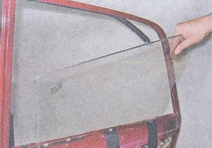 опускное стекло задней двери ваз 2107