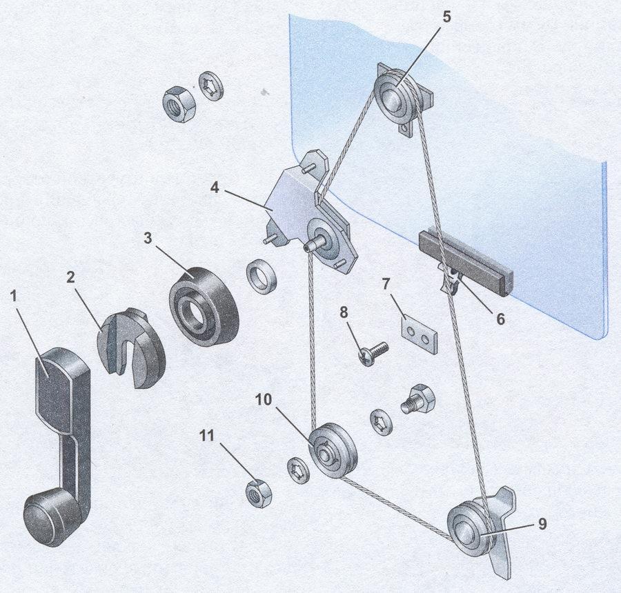 Ваз 2106 схема стеклоподъемника