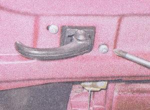 винты крепления внутренней ручки задней двери ваз 2107