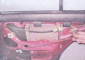 замок задней двери ваз 2107 с тягой и внутренней ручкой