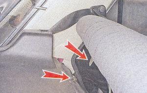 спинка заднего сиденья ваз 2107