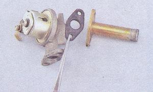 кран отопителя ваз 2107 - резиновая прокладка - патрубок