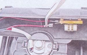провод питания вентилятора отопителя ваз 2107