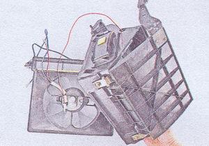 кожухи вентилятора отопителя ваз 2107