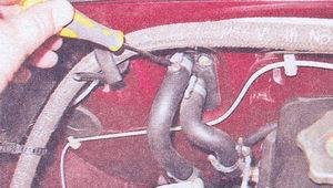 хомуты крепления шлангов подвода и отвода охлаждающей жидкости