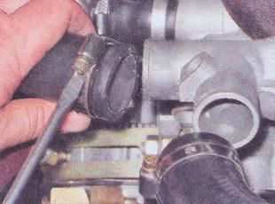 патрубок термостата - патрубок радиатора ваз 2107