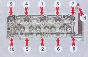 порядок затяжки болтов головки блока цилиндров ваз 2107