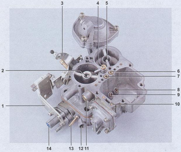 корпус карбюратора ваз 2107 - 1107010