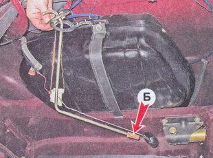 датчик указателя уровня и резерва топлива автомобиля ваз 2107