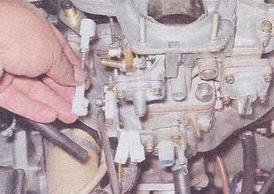 тяги привода дроссельной заслонки карбюратора ВАЗ 2107