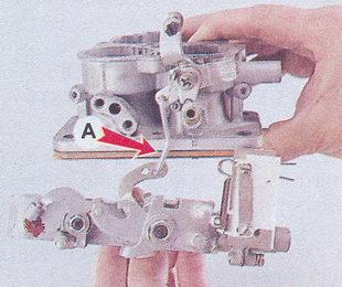корпус дроссельных заслонок - корпус карбюратора ваз 2107
