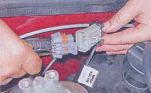 колодка жгута проводов форсунок от моторного жгута