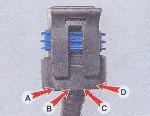маркировка выводов колодки проводов регулятора холостого хода ваз 2107
