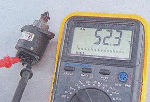проверка сопротивления обмоток на регуляторе холостого хода ваз 2107