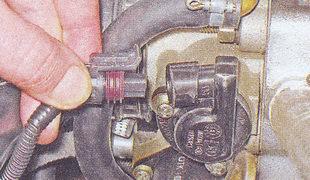 колодка проводов датчика положения дроссельной заслонки ваз 2107