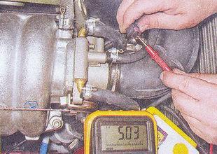 проверки цепи датчика положения дроссельной заслонки ваз 2107