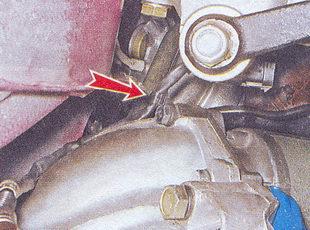 держатель провода датчика концентрации кислорода ваз 2107