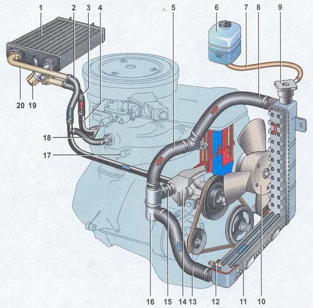 Система охлаждения двигателя ланос 1.5 схема фото 562
